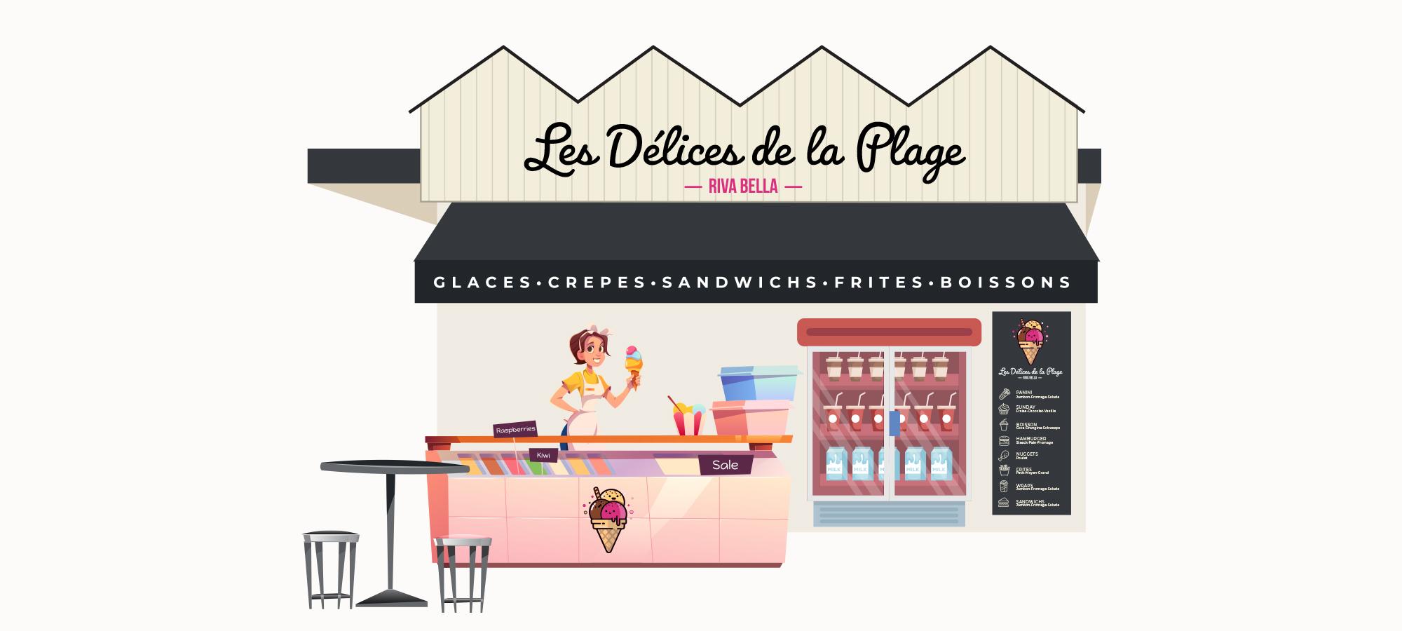 Délices de la Plage © Agence Trois Petits Points Communication Verson